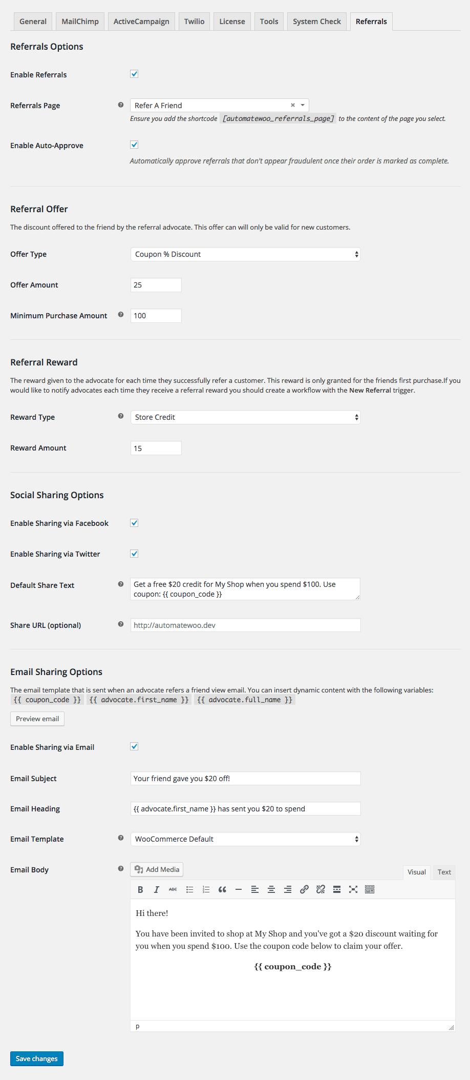 WooCommerce Refer A Friend - AutomateWoo