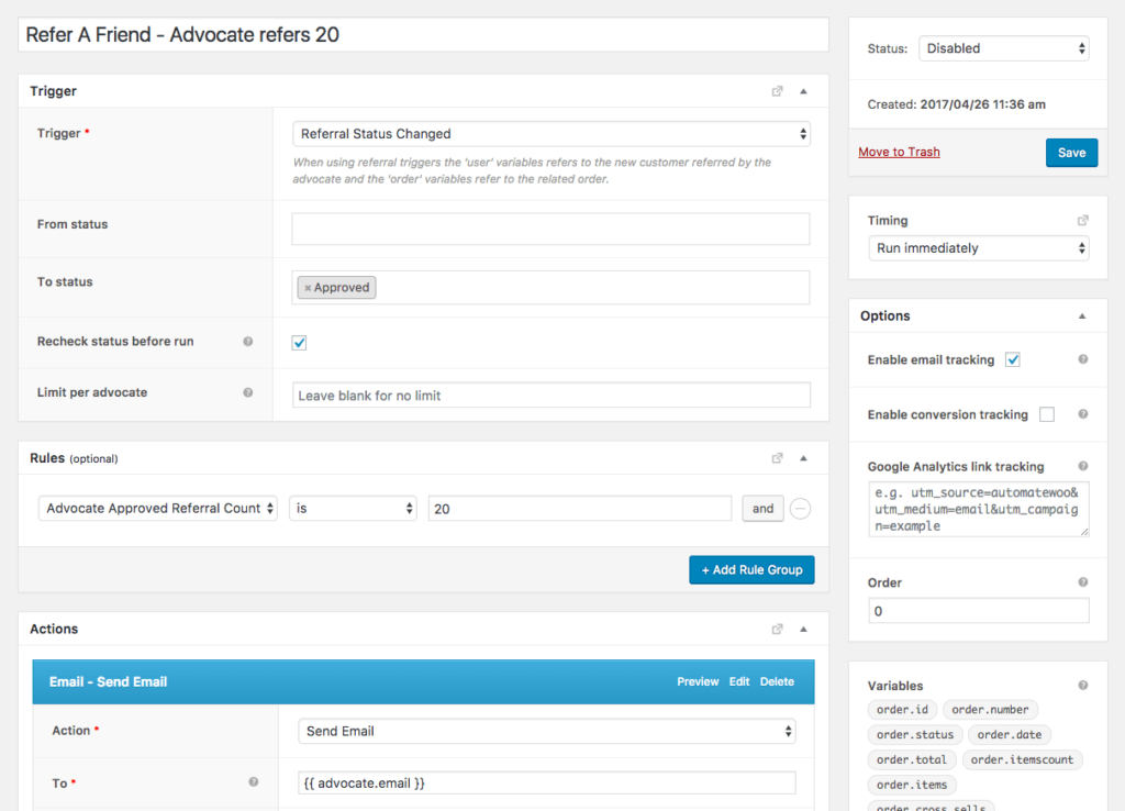 Reward high achieving advocates in your WooCommerce referral campaign